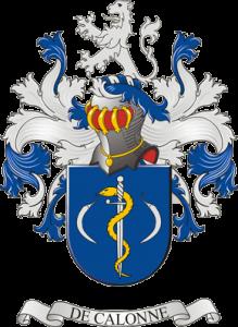 Family crest De Calonne