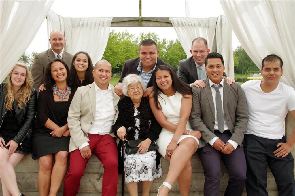 Albertine Miranda de Calonne-smit en kleinkinderen